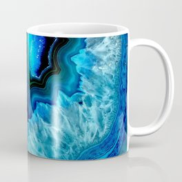 Turquoise Blue Teal Quartz Crystal Coffee Mug