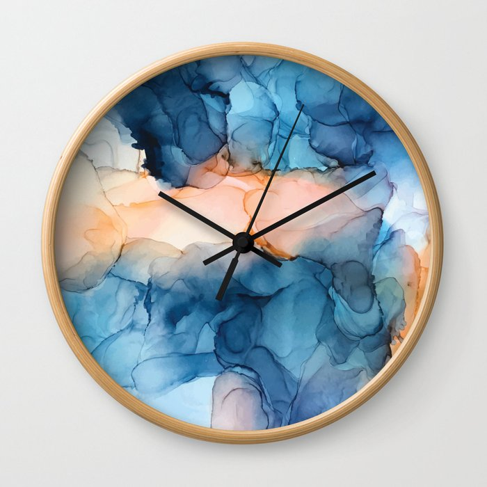 Captivate- Alcohol Ink Painting Wall Clock