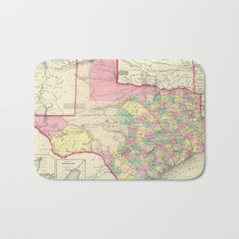 Vintage Map of Texas (1856) Bath Mat