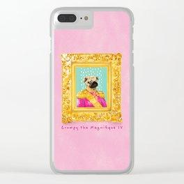 Pug the Magnifique Clear iPhone Case