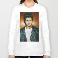 zayn malik Long Sleeve T-shirts featuring Zayn Malik Punk Edit by Vinny's Edits