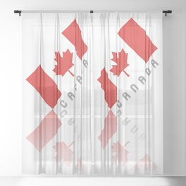 Elegant Maple Leaf Canada Sheer Curtain