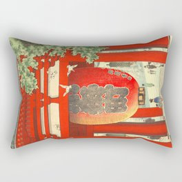 Big lantern-Asakusa temple Rectangular Pillow