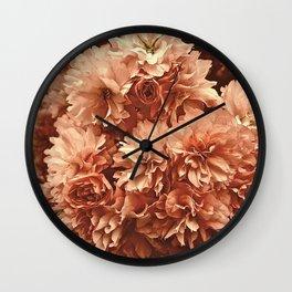 Vintage Ornamental Plum Blossoms Wall Clock
