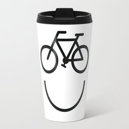 Bike face, bicycle smiley Travel Mug