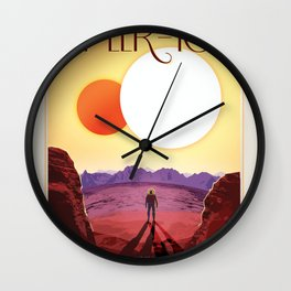 NASA Visions of the Future - Relax on Kepler-16b Wall Clock