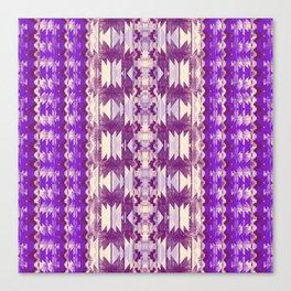 purple aztec Canvas Print