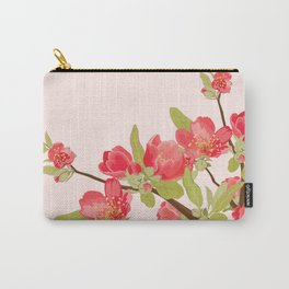 Pink Tree Blossoms Carry-All Pouch