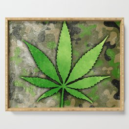 Weed Leaf Serving Tray