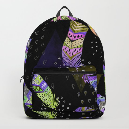 Abstract pattern with feathers 2. Backpack