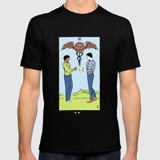 Community Tarot Card- Two of Cups T-shirt