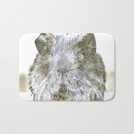 fascinating altered animals - guina pig Bath Mat