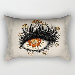 Weird Eye Of Fractured Lava | Digital Art Rectangular Pillow