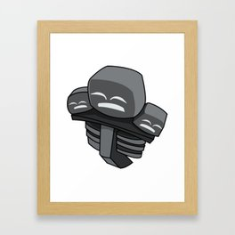 Wither MCPE (Mine Craft) Framed Art Print