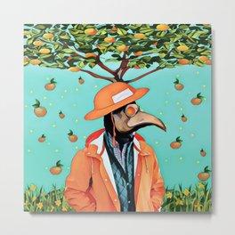 Orange man Metal Print