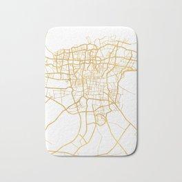 TEHRAN IRAN CITY STREET MAP ART Bath Mat