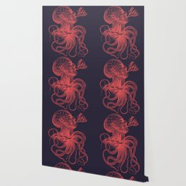 Octopussy Man under the Sea Abstract Concept Art Wallpaper
