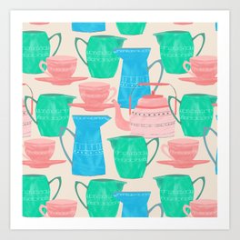 Jugs and Cups Pattern Art Print