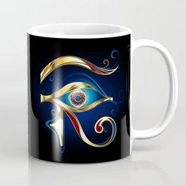 Gold Eye of Horus Coffee Mug
