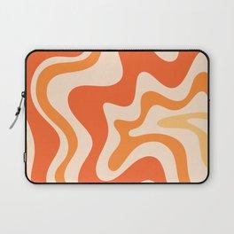 Tangerine Liquid Swirl Retro Abstract Pattern Laptop Sleeve