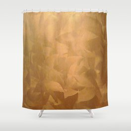 Beautiful Copper Metal - Corporate Art - Hospitality Art - Modern Art Shower Curtain