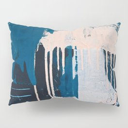 Solstice [2]: a pretty abstract painting in blue and white Pillow Sham