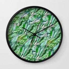 Crystal Emerald Green Gem 1 Wall Clock