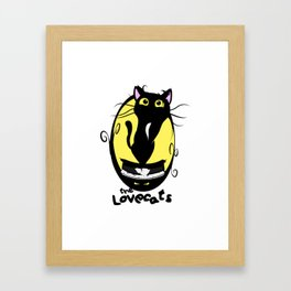 The Lovecats - Illustration The Cure song Framed Art Print