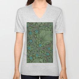 """William Morris """"Forget-Me-Nots"""" (""""Pimpernel"""" detail) Unisex V-Neck"""