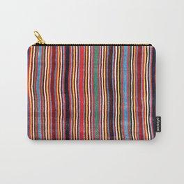 Qashqa'i Antique Fars Southwest Persia Striped Kilim Print Carry-All Pouch