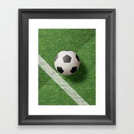 BALLS / Football Framed Art Print