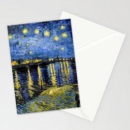 Van Gogh Starry Night Over the Rhône Stationery Cards