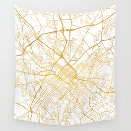 CHARLOTTE NORTH CAROLINA CITY STREET MAP ART Wall Tapestry