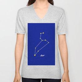 Leo Constellation Unisex V-Neck