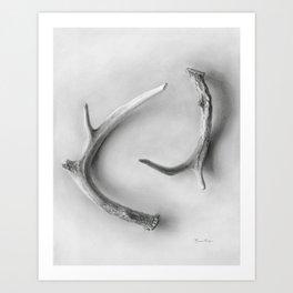 Yin & Yang - A Graphite Drawing by Brooke Figer Art Print