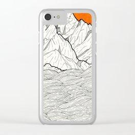 The orange sun Clear iPhone Case