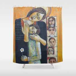 Holy Family #2 By Nabil Anani Shower Curtain