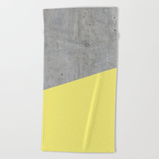 Concrete and yellow Beach Towel