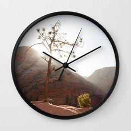 Morning Light on Angel's Landing Tree (Zion National Park, Utah) Wall Clock