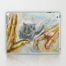 Figure Drawing - Alien Spaceship Coming For You Laptop & iPad Skin