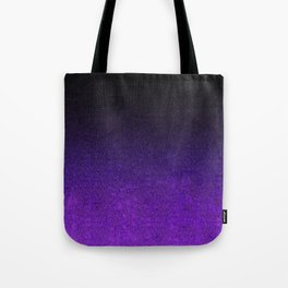Purple & Black Glitter Gradient Tote Bag