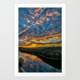 Back Bay Sunrise Art Print