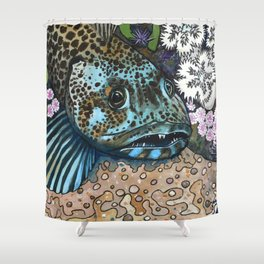 Lingcod Shower Curtain