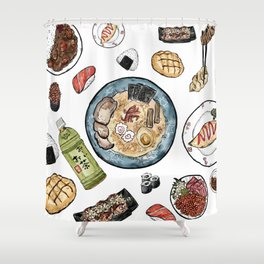 Favourite Japanese Foods Shower Curtain
