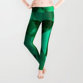 FACETED EMERALD GREEN MAY GEMSTONE Leggings