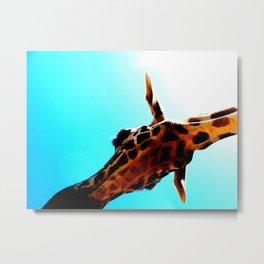 A giraffe named Squirt Metal Print