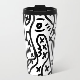 Graffiti Street Art Black and White Travel Mug
