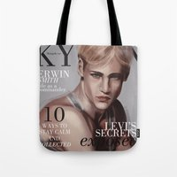 snk Tote Bags featuring SnK Magazine: Erwin by emametlo