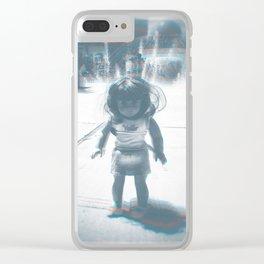 Hello (rainbow) Clear iPhone Case