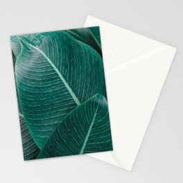 Green Tropical Leaves No1 Stationery Cards